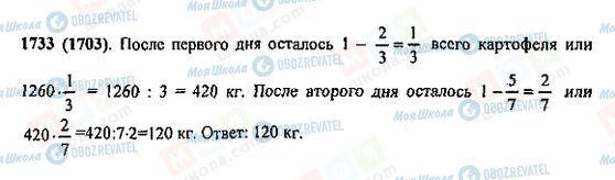 ГДЗ Математика 5 клас сторінка 1733(1703)
