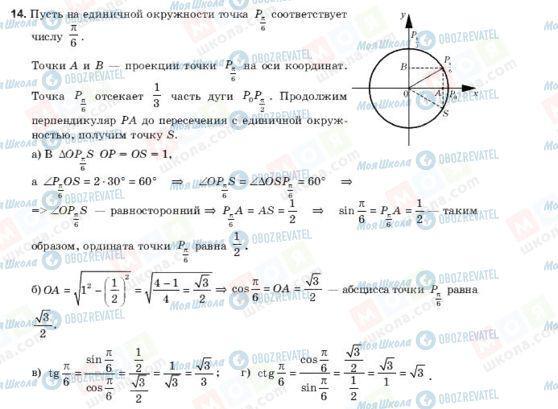 ГДЗ Алгебра 10 класс страница 14