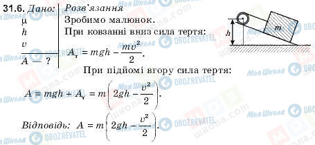 ГДЗ Фізика 9 клас сторінка 31.6