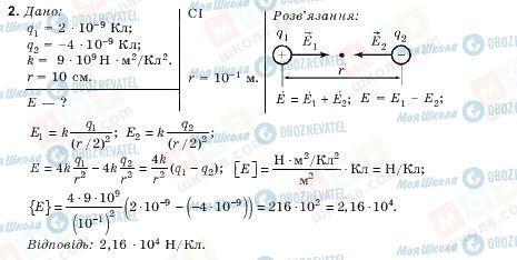 ГДЗ Фізика 10 клас сторінка 2