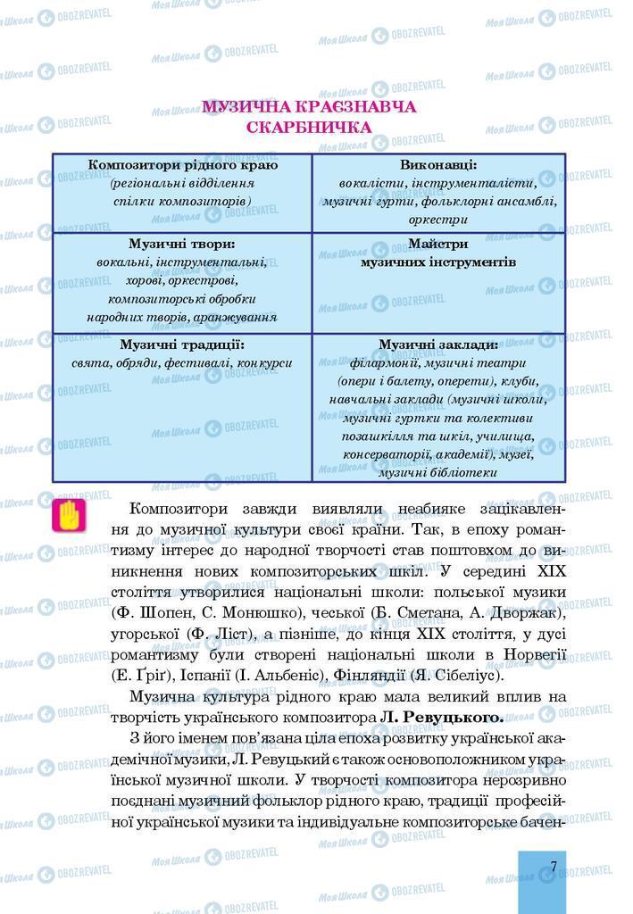 Учебники Музыка 7 класс страница  7