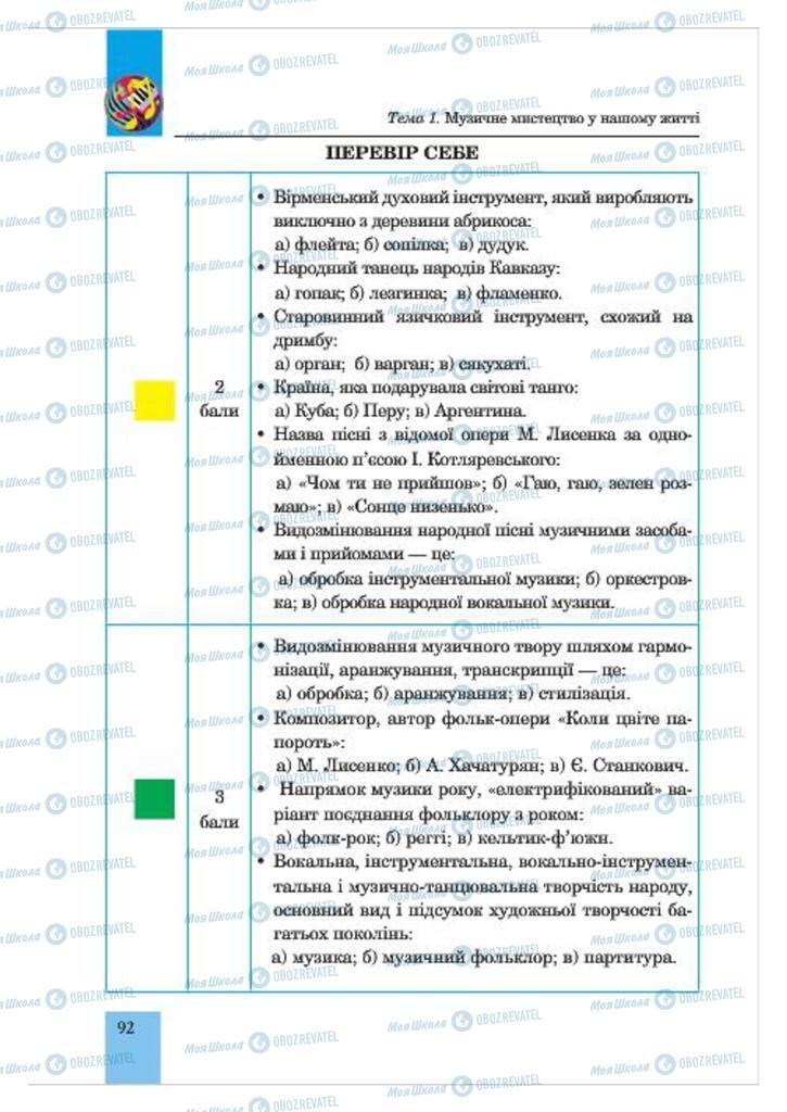 Учебники Музыка 7 класс страница  92