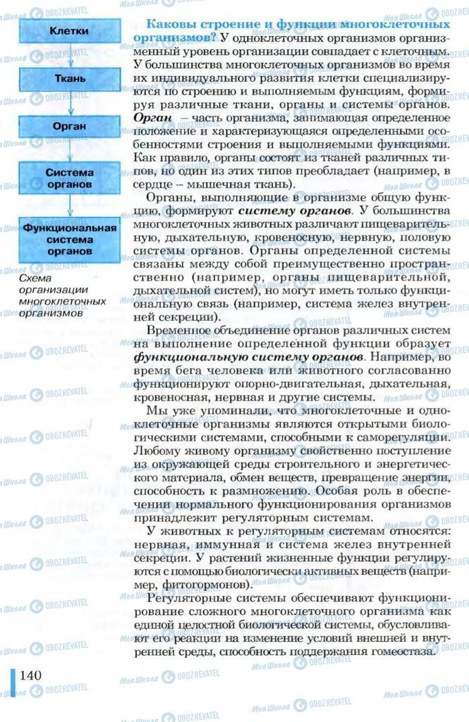 Учебники Биология 10 класс страница 140