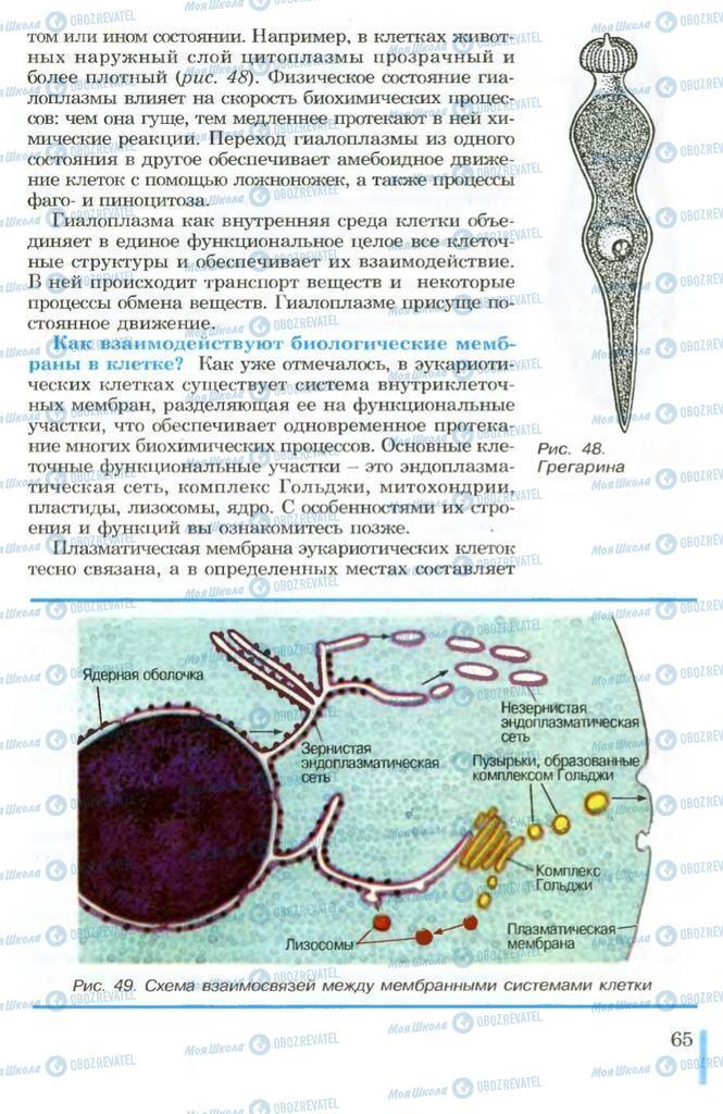 Учебники Биология 10 класс страница 65