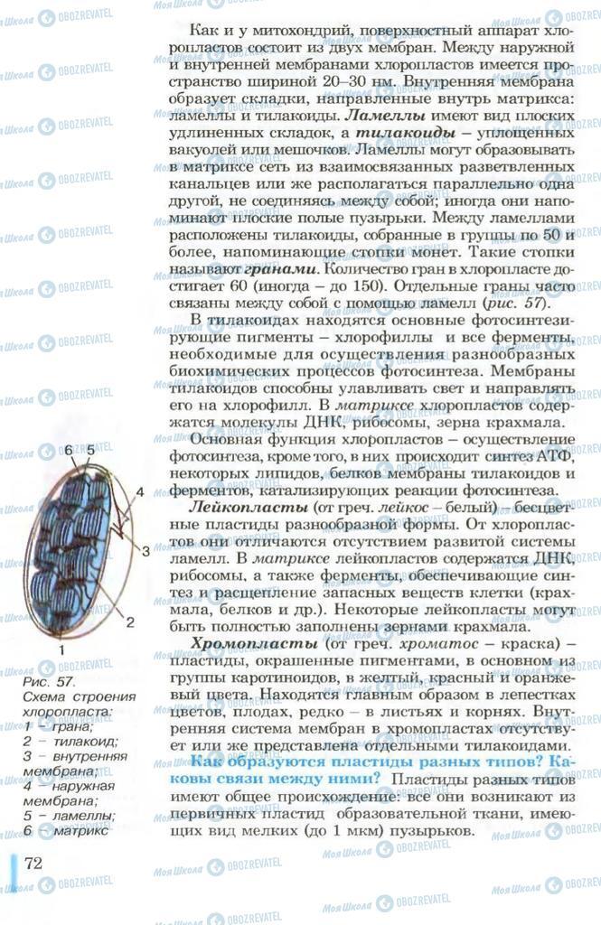Учебники Биология 10 класс страница 72