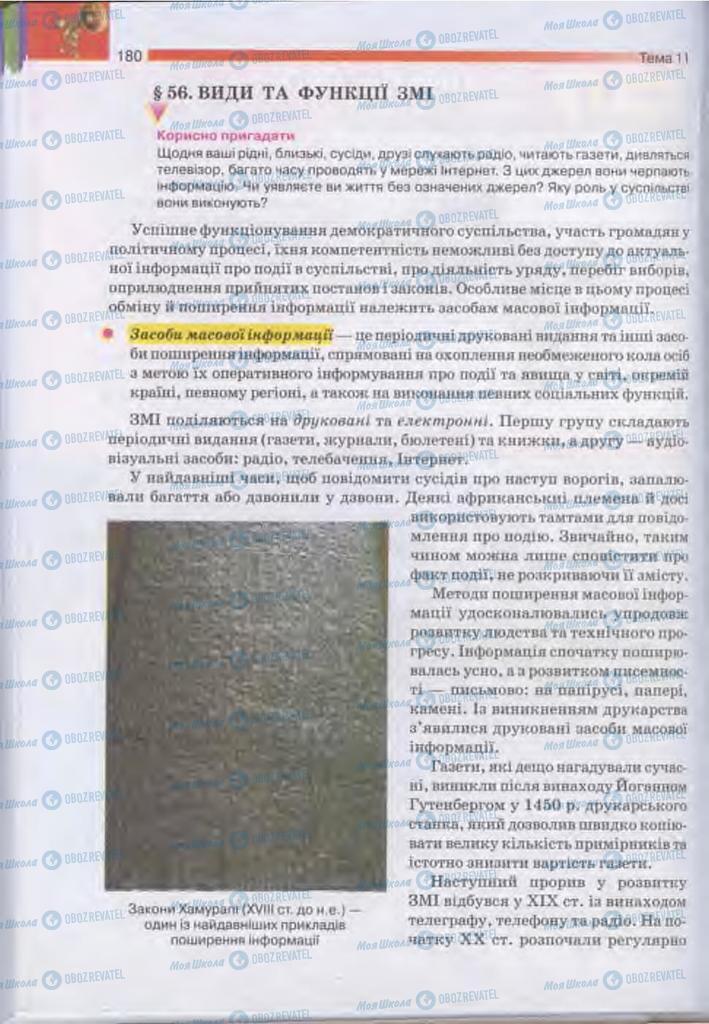 Підручники Людина і світ 11 клас сторінка  180