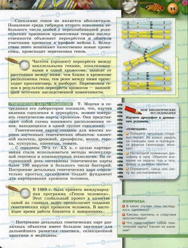 Підручники Біологія 10 клас сторінка  55