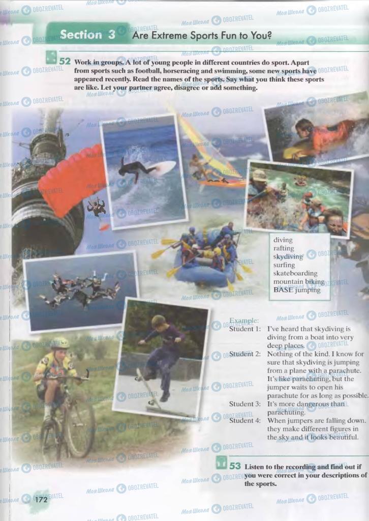 Підручники Англійська мова 9 клас сторінка  172