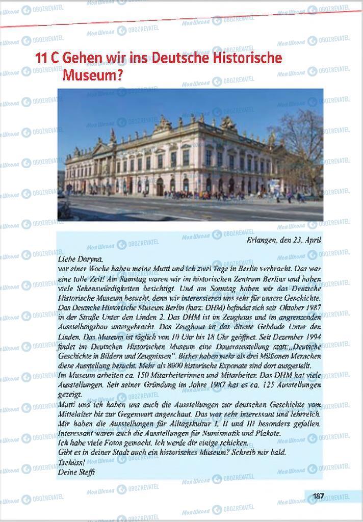 Підручники Німецька мова 7 клас сторінка 187