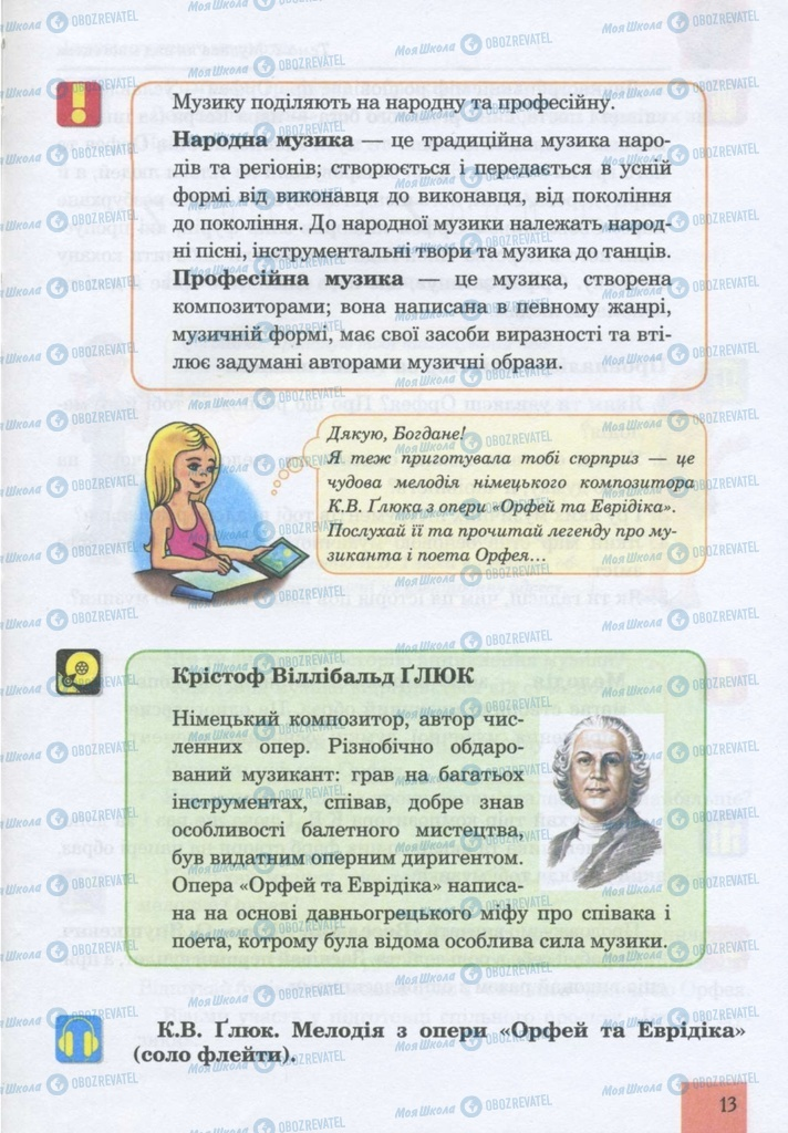 Учебники Музыка 5 класс страница 13