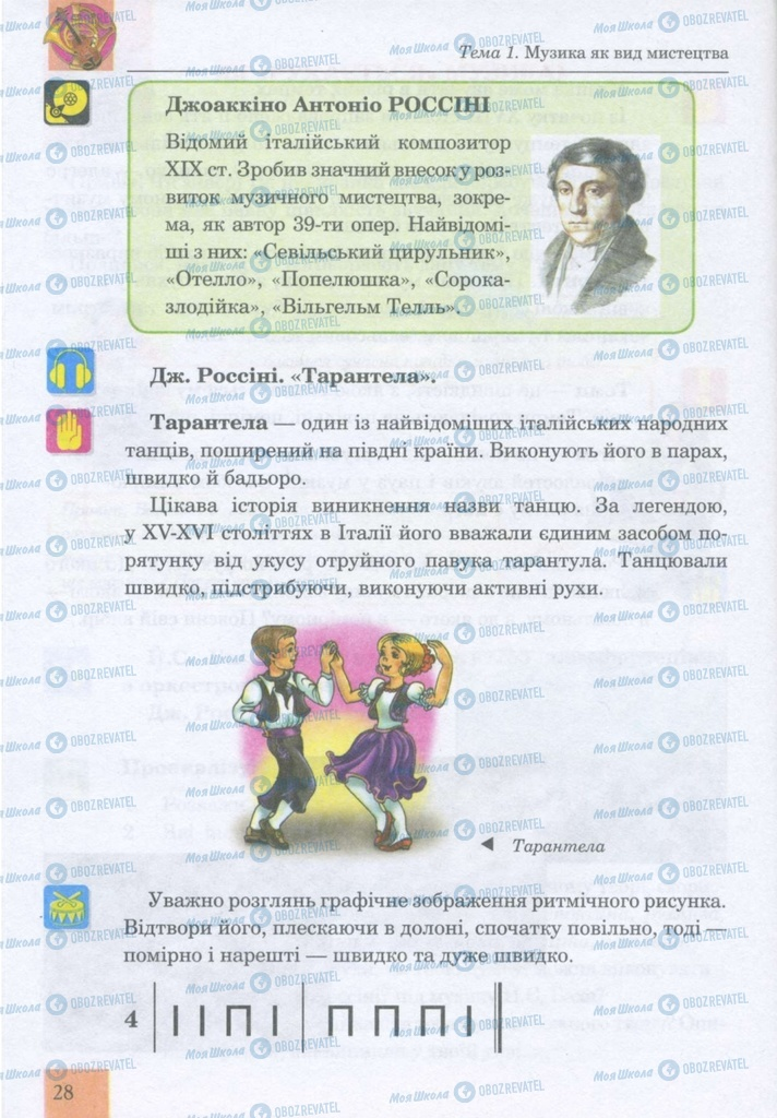 Учебники Музыка 5 класс страница 28