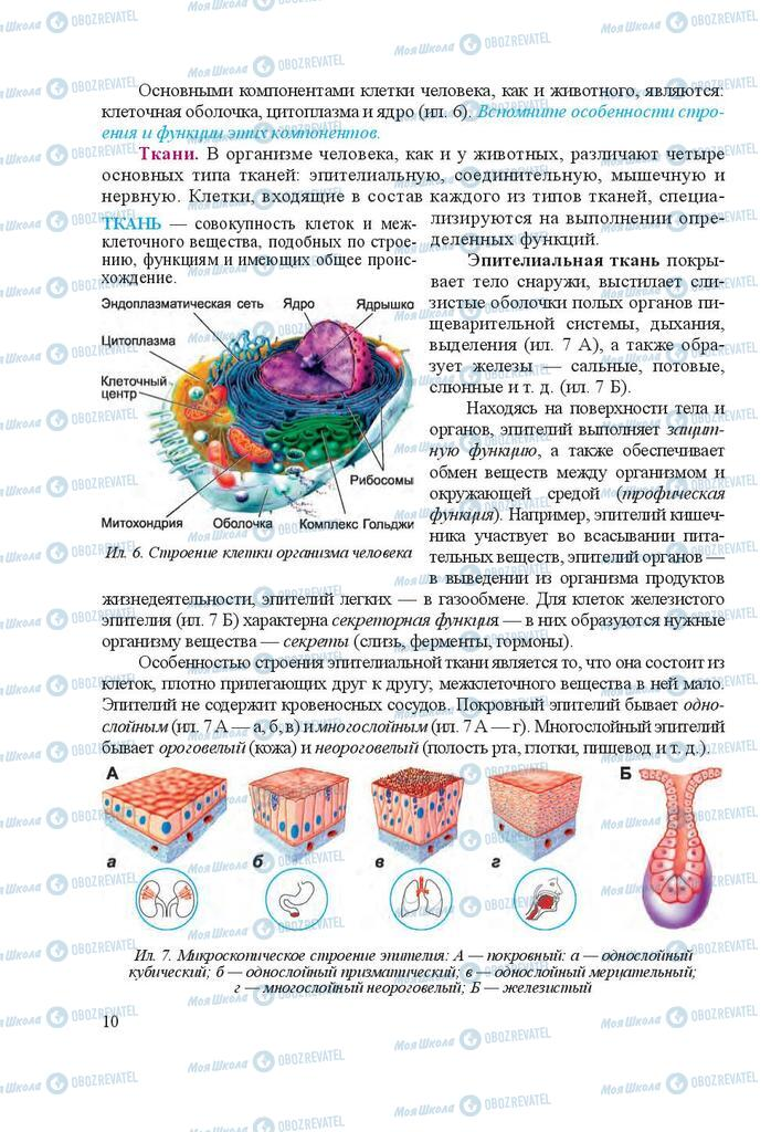 Учебники Биология 8 класс страница 10
