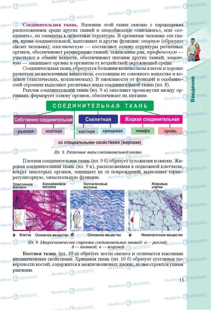 Учебники Биология 8 класс страница 11