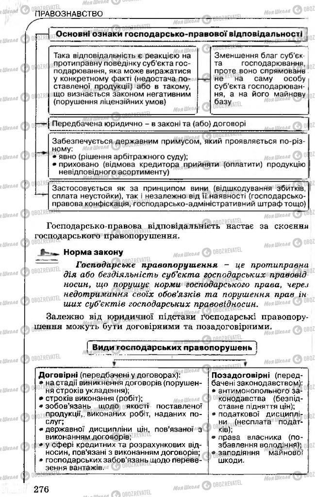 Підручники Правознавство 11 клас сторінка 276