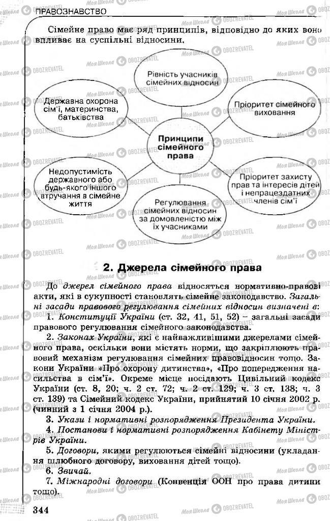 Підручники Правознавство 11 клас сторінка 344