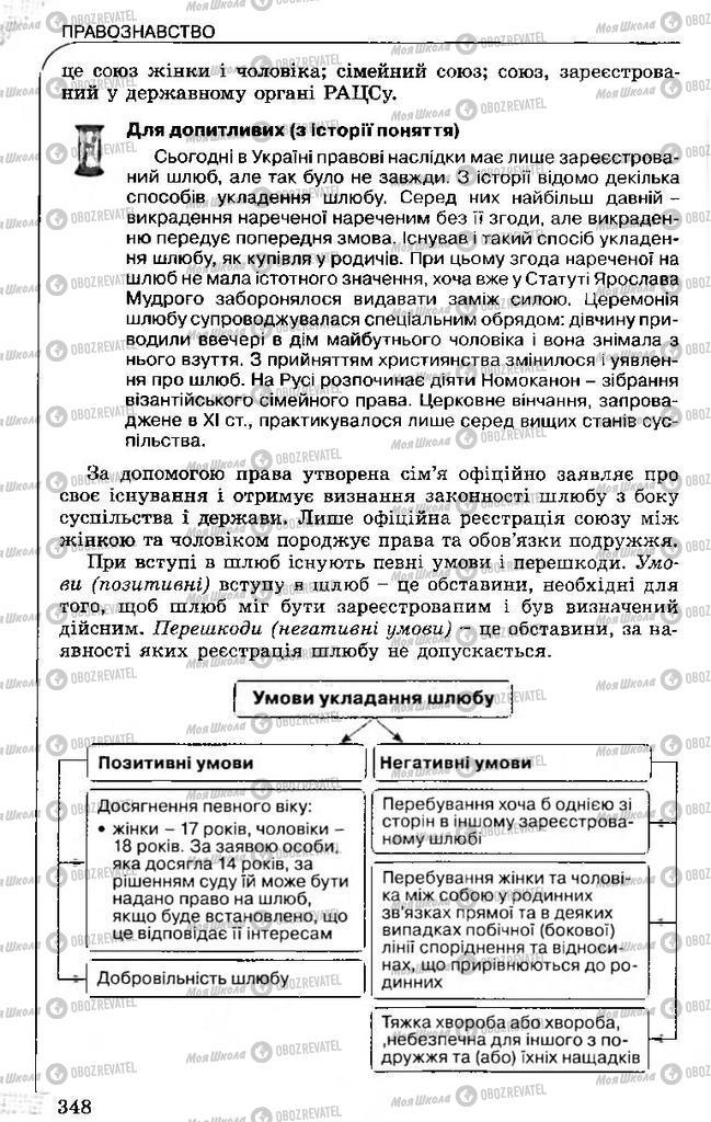 Підручники Правознавство 11 клас сторінка 348