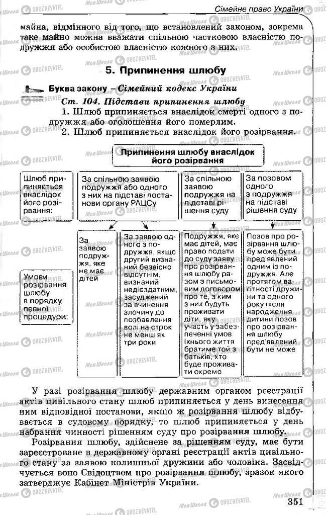 Учебники Правоведение 11 класс страница 351