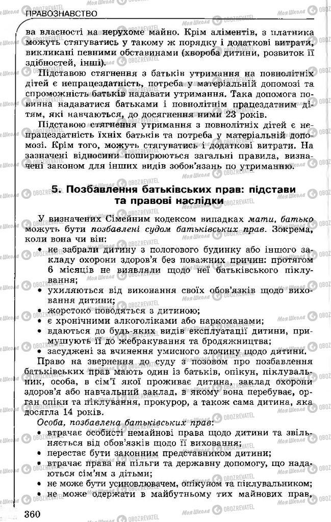 Підручники Правознавство 11 клас сторінка 360