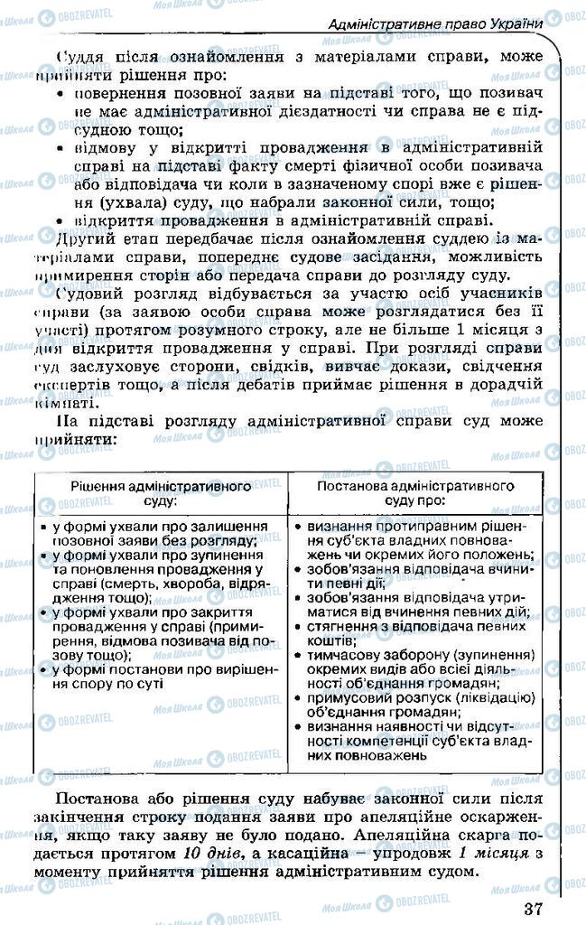 Учебники Правоведение 11 класс страница 37