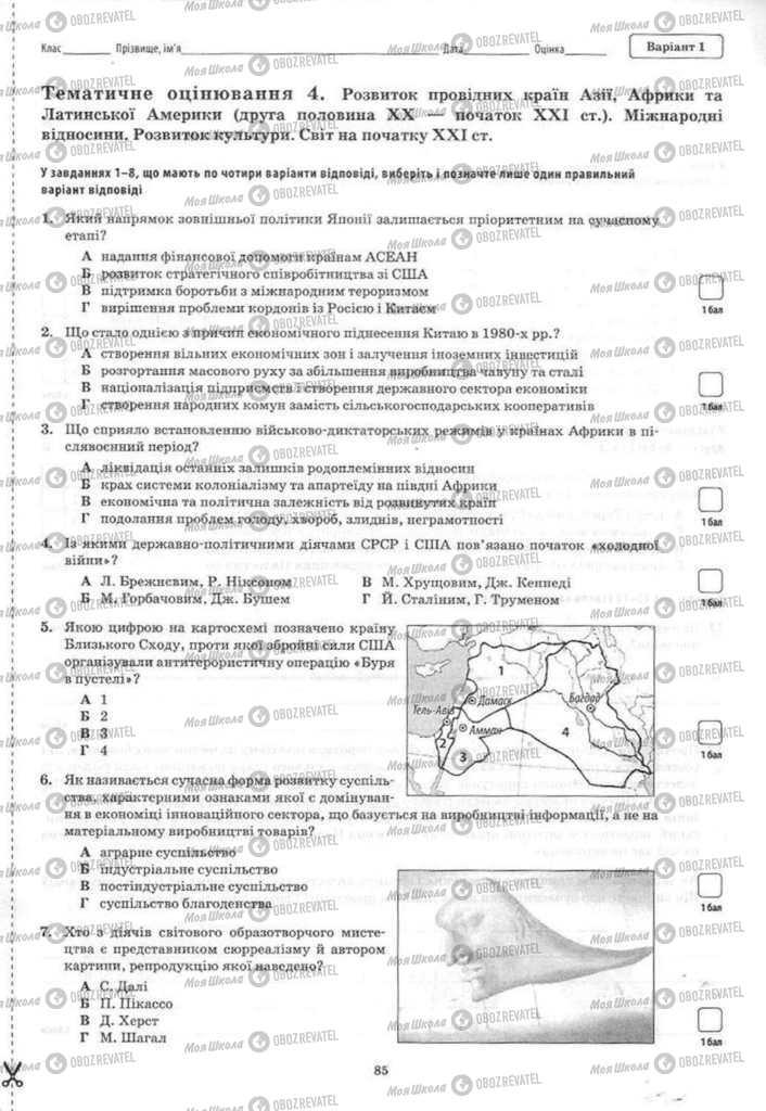 Підручники Історія України 11 клас сторінка 85