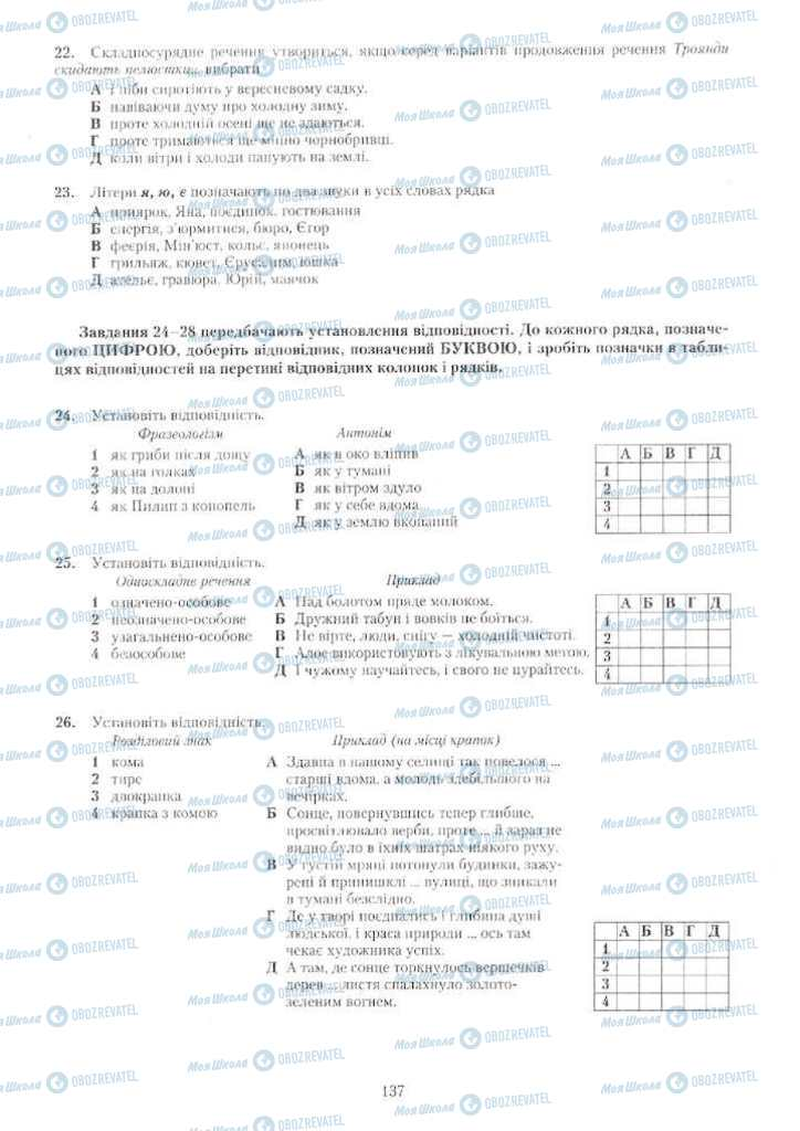 Учебники Укр мова 11 класс страница 137