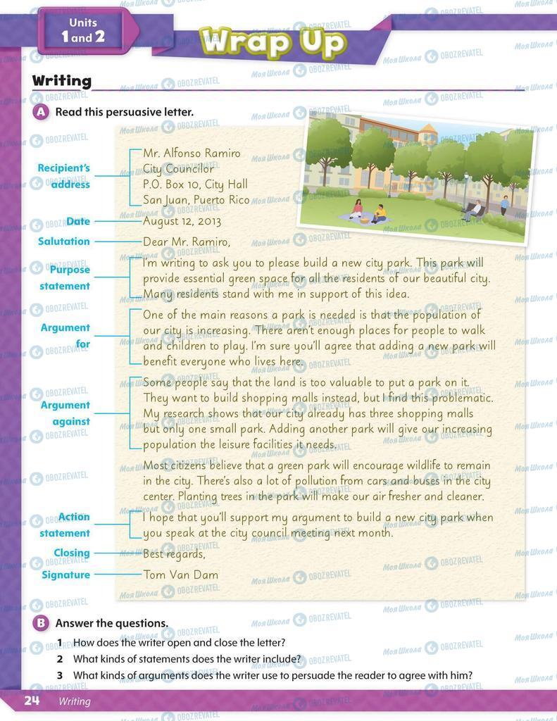 Підручники Англійська мова 6 клас сторінка 24