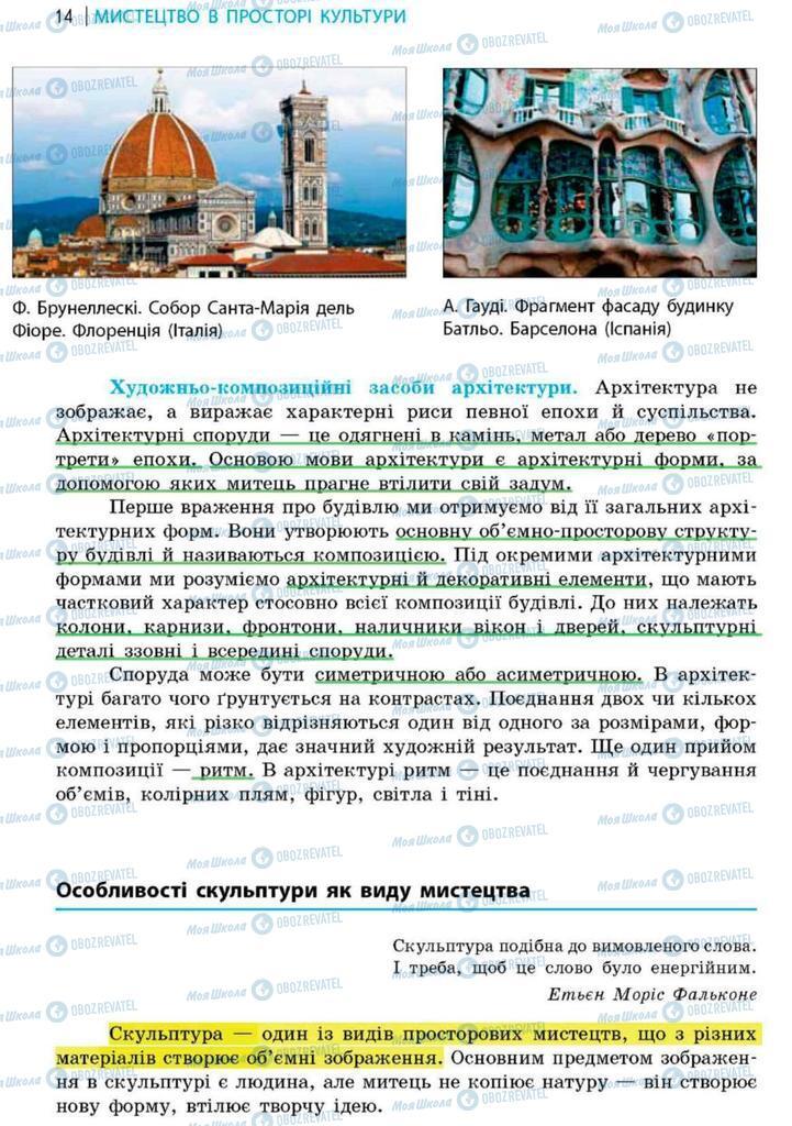 Підручники Художня культура  9 клас сторінка 14