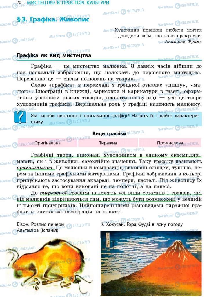 Підручники Художня культура  9 клас сторінка 20