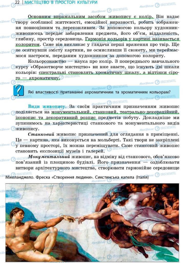 Підручники Художня культура  9 клас сторінка 22