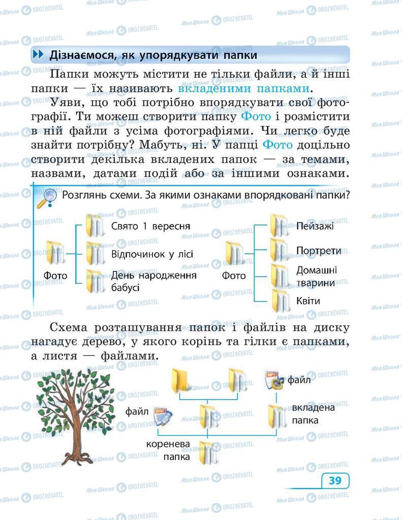 Підручники Інформатика 3 клас сторінка 39