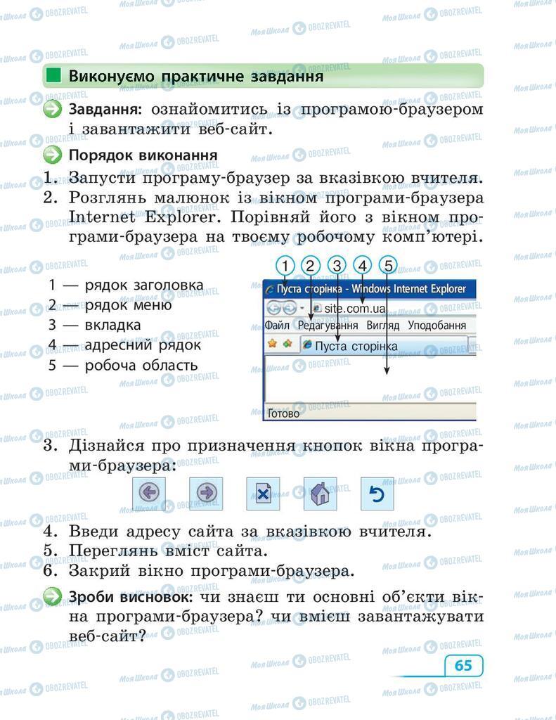 Підручники Інформатика 3 клас сторінка 65