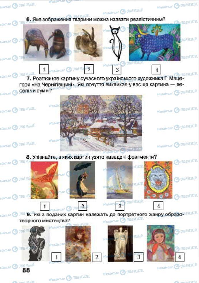 Учебники Изобразительное искусство 4 класс страница 88