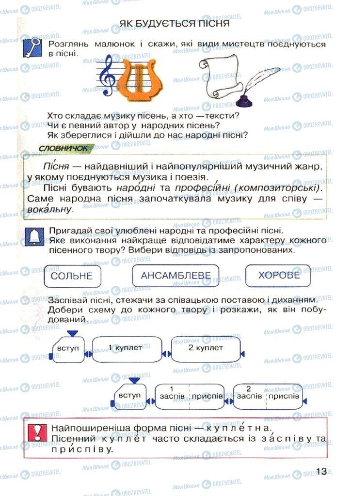 Учебники Музыка 4 класс страница  13