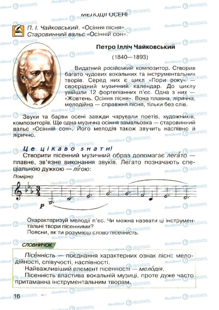 Учебники Музыка 4 класс страница 16