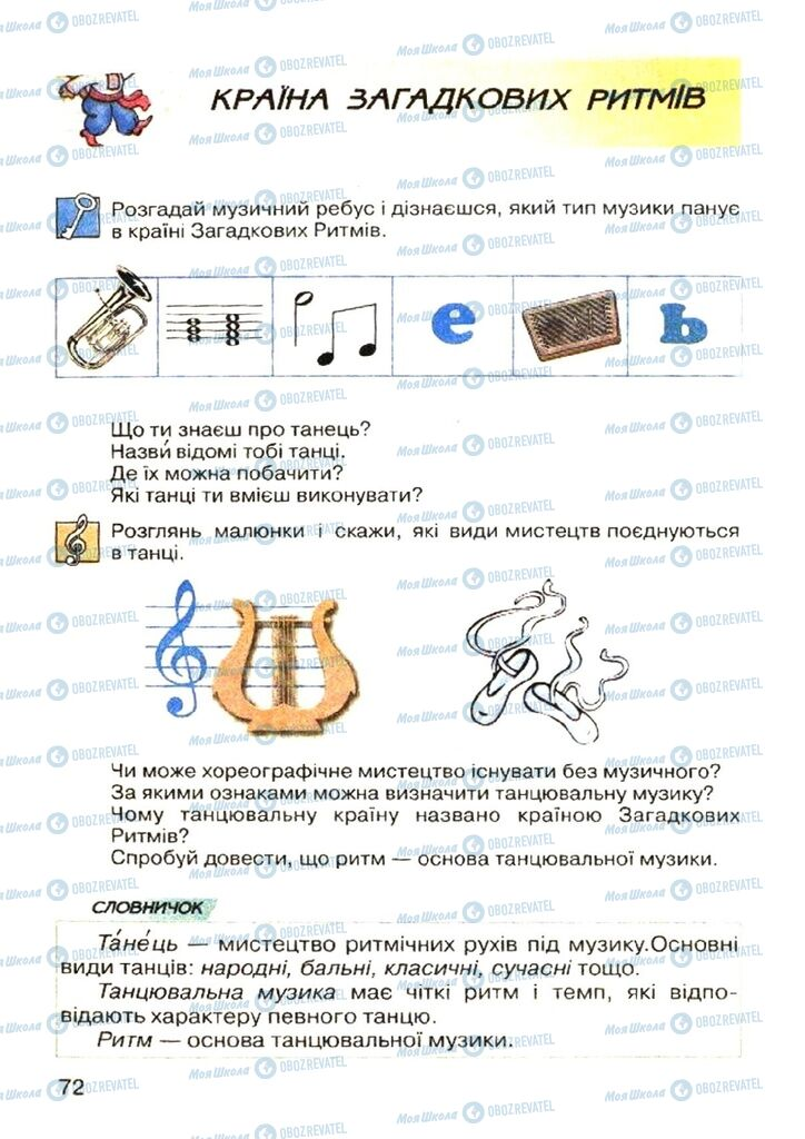 Учебники Музыка 4 класс страница 72