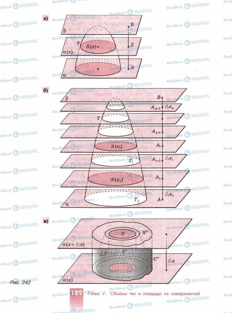 Підручники Геометрія 10 клас сторінка  189