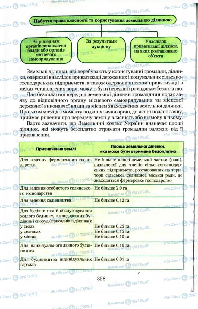 Підручники Правознавство 11 клас сторінка  358