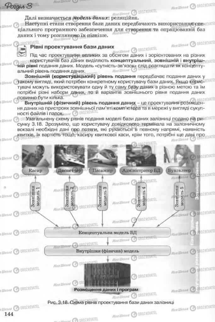 Підручники Інформатика 11 клас сторінка 144