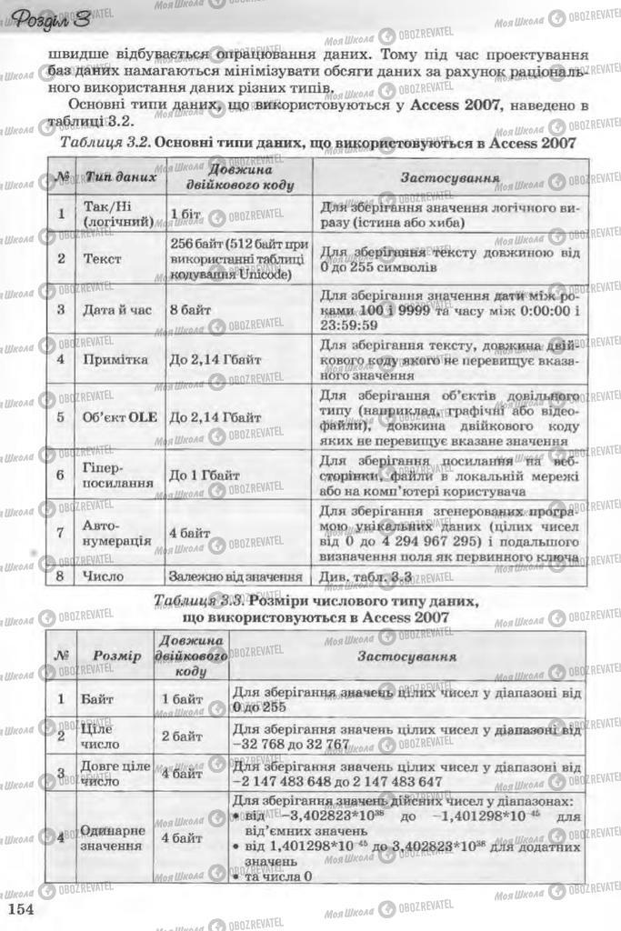 Учебники Информатика 11 класс страница 154