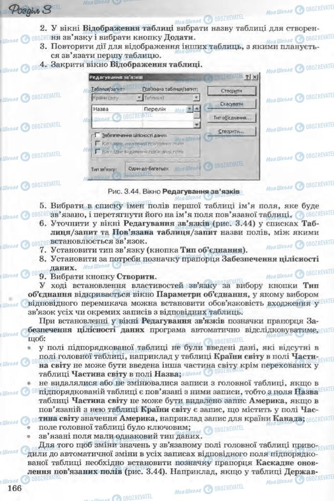 Учебники Информатика 11 класс страница 166