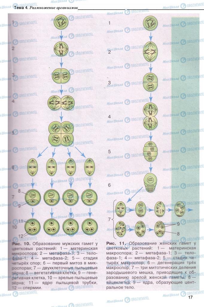 Підручники Біологія 11 клас сторінка 17
