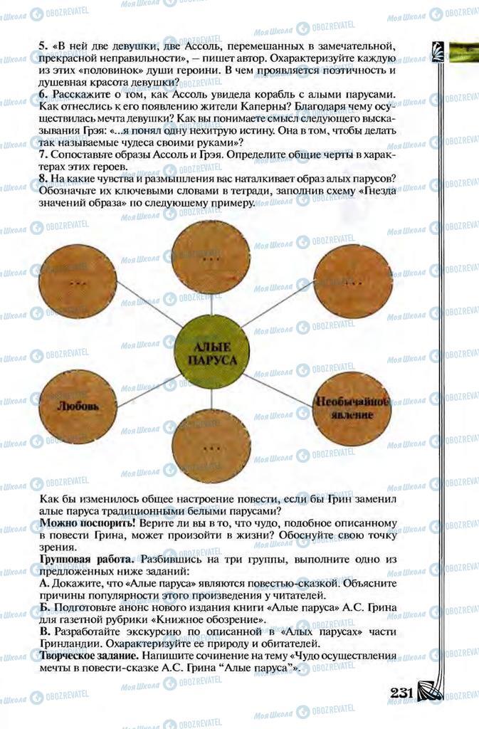 Учебники Зарубежная литература 8 класс страница 231