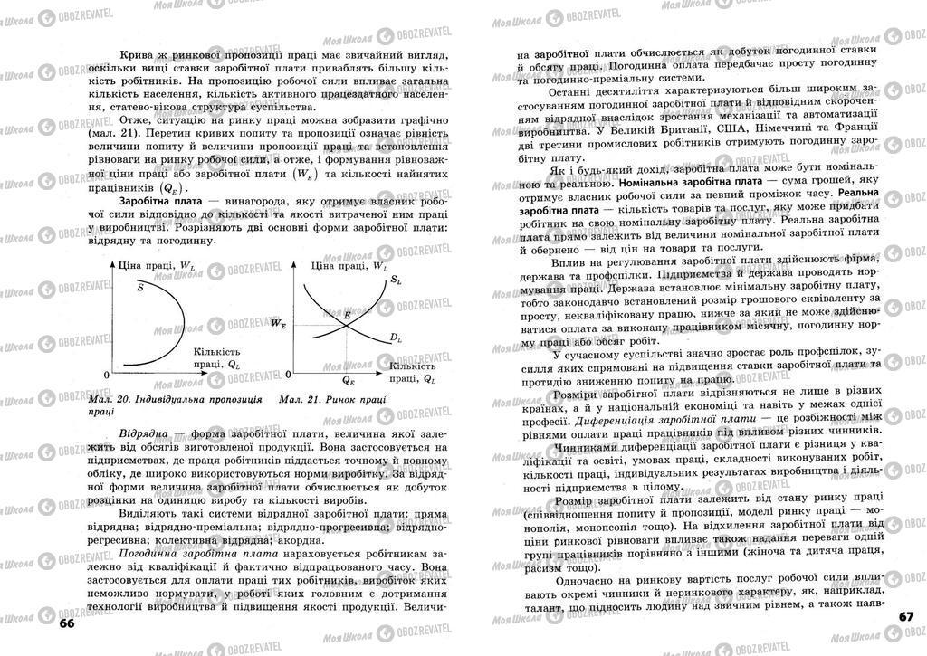 Підручники Економіка 11 клас сторінка  66-67