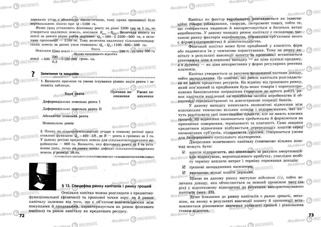 Підручники Економіка 11 клас сторінка  72-73