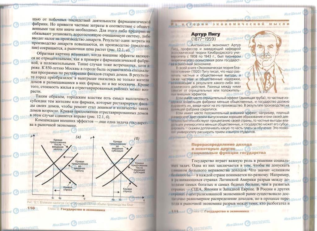 Підручники Економіка 11 клас сторінка  110-111