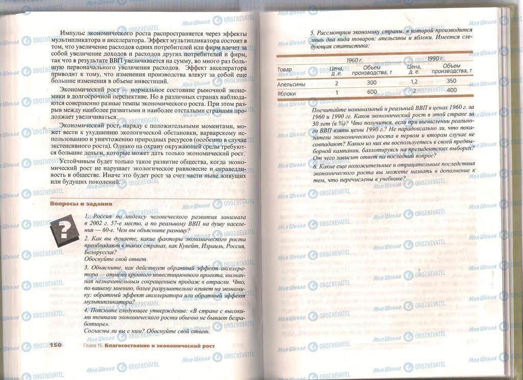 Підручники Економіка 11 клас сторінка  150-151