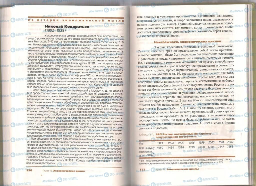 Підручники Економіка 11 клас сторінка  156-157