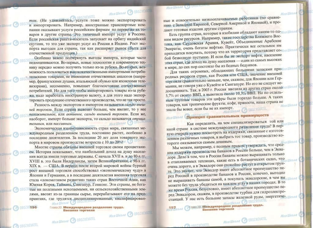 Підручники Економіка 11 клас сторінка  196-197