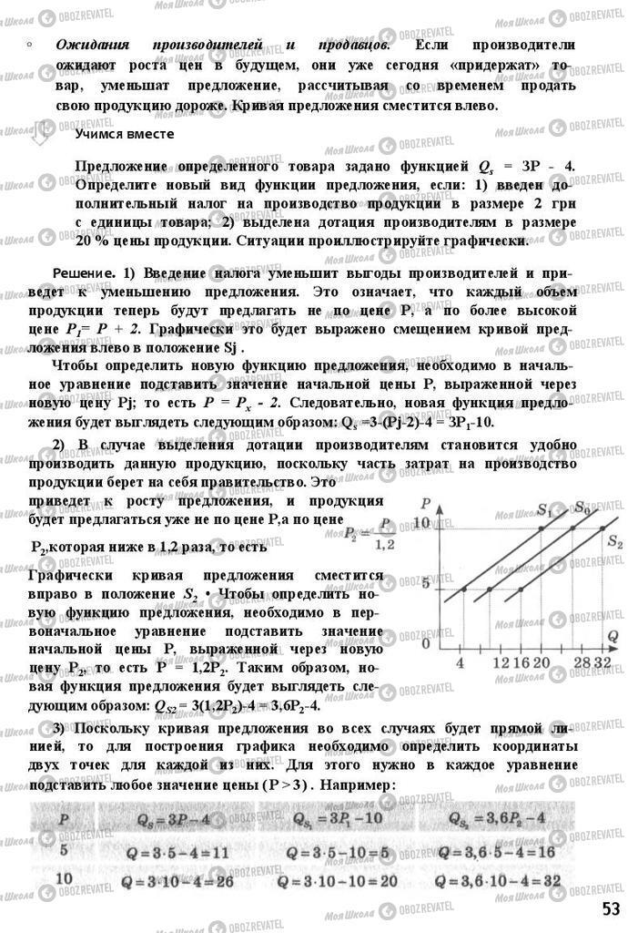Підручники Економіка 11 клас сторінка 53