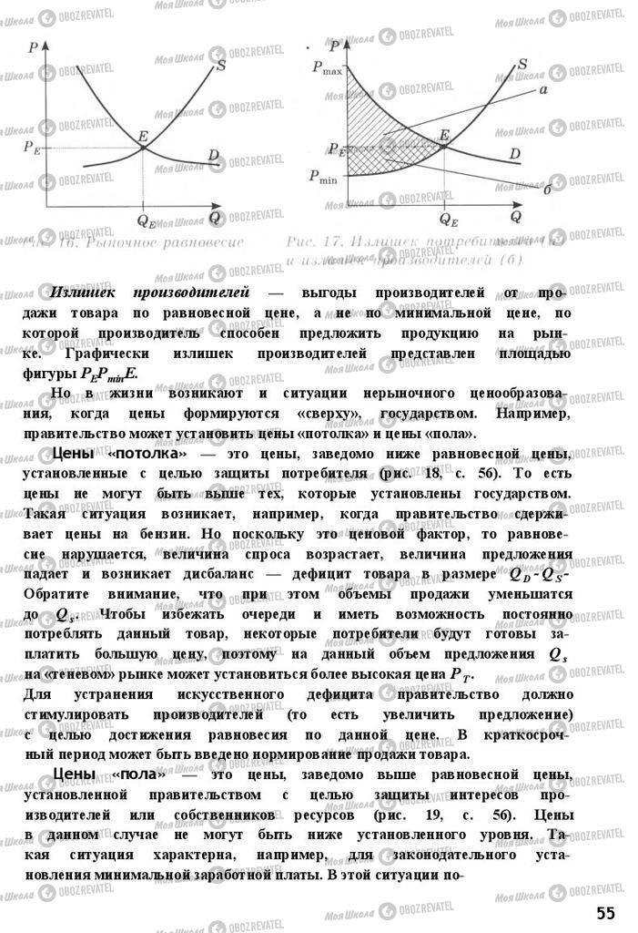 Підручники Економіка 11 клас сторінка 55